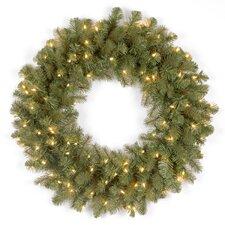 "Douglas Pre-Lit 24"" Downswept Wreath"