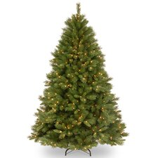 Winchester Pine 7.5' Green Artificial Christmas Tree with 500 Pre-Lit Clear Lights with Stand