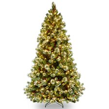 Pre-lit 7' Pine Artificial Christmas Tree with 650 Clear Lights and Stand