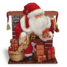 Plush Fireplace with Moving Santa