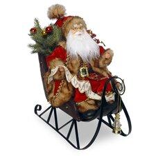 Plush Sleigh with Santa