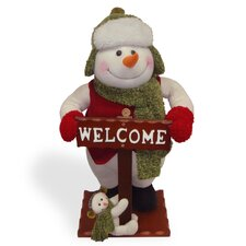 Plush Santa with Welcome Stick