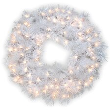 "Pre-Lit 30"" Wispy Willow Grande Wreath"