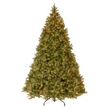 Douglas Fir Downswept 12' Green Artificial Christmas Tree with Clear Lights with Stand