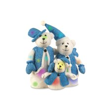 Pre-Lit Cotton Bear Family