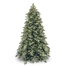 Colorado Spruce 7.5' Green Poly Frosted Artificial Christmas Tree with 750 Pre-Lit Clear Lights with Stand