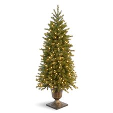 <strong>National Tree Co.</strong> Jersey Fraser Fir 4' Green Entrance Artificial Christmas Tree with 100 Pre-Lit Clear Lights with Urn Base