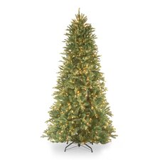 Tiffany Fir 9' Green Slim Artificial Christmas Tree with 800 Pre-Lit Clear Lights with Stand