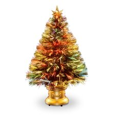 "Evergreen Fiber Optic Firework 2' 8"" Multicolor Artificial Christmas Tree with Multicolor Light"