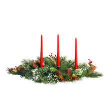 Wintry Pine Candelabra Centerpiece