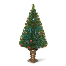 Evergreen 3' Green Fiber Optic Fireworks Artificial Christmas Tree with Multicolor LED Lights with Urn Base