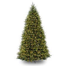 Dunhill Fir 12' Green Artificial Christmas Tree with 1500 Pre-Lit Clear Lights with Stand