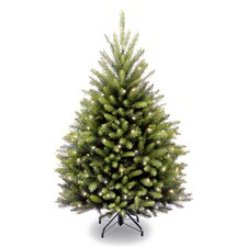 Dunhill Fir 4.5' Green Artificial Christmas Tree with 450 Incandescent Clear Lights