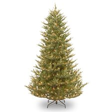 <strong>National Tree Co.</strong> Balsam Fir 7.5' Green Medium Artificial Christmas Tree with 750 Pre-Lit Clear Lights with Stand