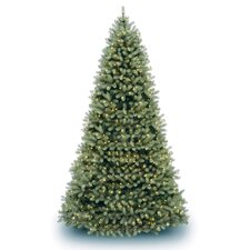 Douglas Fir Downswept 10' Green Artificial Christmas Tree with Clear Lights with Stand