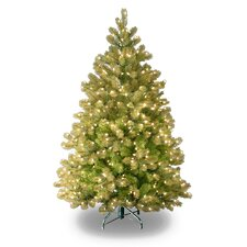 Douglas Fir Downswept 4.5' Green Artificial Christmas Tree with 450 Pre-Lit Clear Lights with Stand