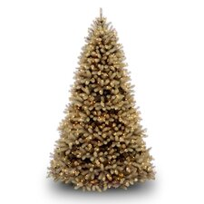 Douglas Fir Downswept 7.5' Beige Artificial Christmas Tree with Clear Lights with Stand