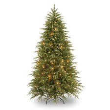 Pre-Lit 7.5' Medium Weeping Spruce Artificial Christmas Tree with 750 Pre-Lit Clear Lights with Stand