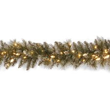 "<strong>National Tree Co.</strong> Glittery Bristle Pine Pre-Lit 9' x 10"" Garland"