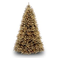 Douglas Fir Downswept 7.5' Beige Artificial Christmas Tree with LED White Lights with Stand