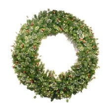 <strong>National Tree Co.</strong> Wintry Pine Pre-Lit Wreath