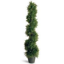 <strong>National Tree Co.</strong> Juniper Slim Spiral Round Topiary in Pot