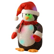 Pre-Lit Cotton Penguin