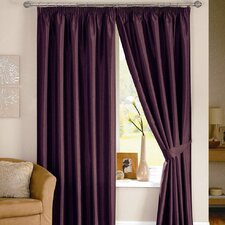 Java Lined Curtain Including Tiebacks