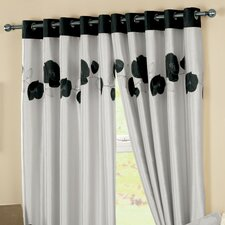 Curtina Danielle Eyelet Lined Curtains (Set of 2)