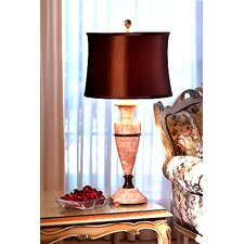 "Amber Marble 32"" H Table Lamp"