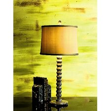 Taupe Gray Marble Table Lamp