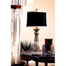 "Taupe Gray Marble 32"" H Table Lamp"