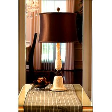 "Pastel and Espresso 31"" Table Lamp with Empire Shade"