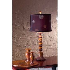 "Chocolate and Desert Marble 31"" H Table Lamp"
