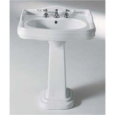 <strong>GSI Collection</strong> Old Antea Classic Style Curved Ceramic Pedestal Sink