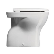 City Contemporary Ceramic Floor Mounted Round 1 Piece Toilet