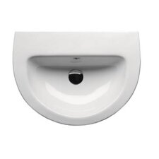 City Contemporary Curved Semi-Recessed Bathroom Sink