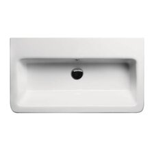 City Contemporary Rectangular Wall Hung or Self-Rimming Bathroom Sink
