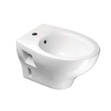 City Contemporary Round White Ceramic Wall Mounted Bidet