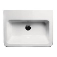 City Modern Rectangular Wall Hung or Self Rimming Bathroom Sink