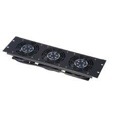 3U Vented Fan Panel and 3 Fans