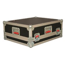 "Mixer Wood Flight Road Case: 8"" H x 25"" W x 20"" D"