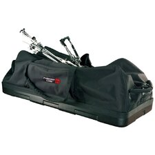 "Hardware Drum Bag with Wheels and Molded Reinforced Bottom: 14"" H x 36"" W x 14"" D"