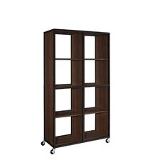 "Mason Ridge Mobile 58.66"" Bookcase/Room Divider"