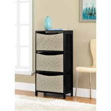 Perry Road Storage Bin Unit with 3 Fabric Bins