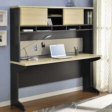 Benjamin Credenza Desk and Hutch Bundle