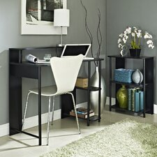 Computer Desk with Bookcase Combo