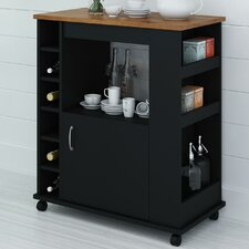 Kitchen Cart with Wood Top II