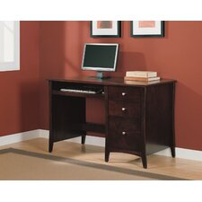 Single Pedestal Computer Desk with 2 Box Drawers