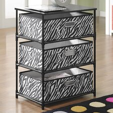 3 Bin Storage End Table